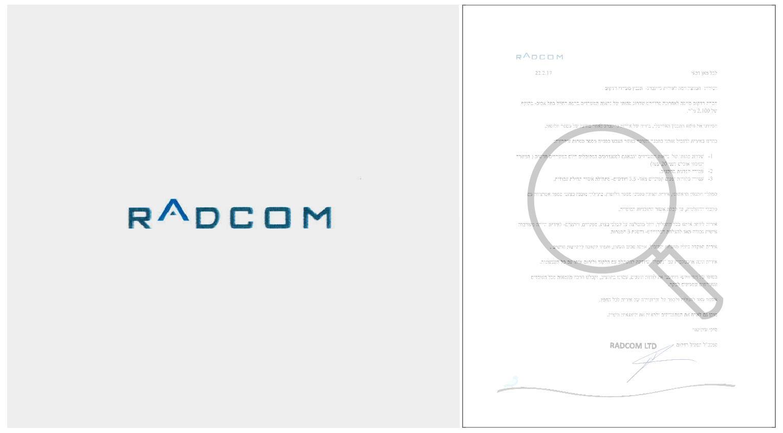 radcom recommendation